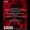 Cover of the track Most Precious Love