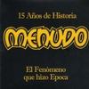 Couverture de l'album 15 Años de historia Menudo