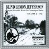 Couverture de l'album Blind Lemon Jefferson Vol. 2 (1927)