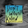 Cover of the track Don't Wanna Know (feat. Kendrick Lamar)