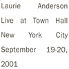 Couverture de l'album Live At Town Hall In New York City