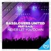 Couverture du titre Never Let You Down (Hands Up Remix Edit) [feat. D.A.D.]