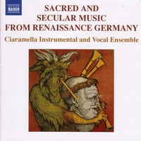 Couverture du titre Sacred and Secular Music from Renaissance Germany