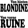 Couverture du titre Von hinten Blondine (von vorne Ruine)